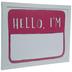 Hello, I'm Name Tag Dry Erase Board