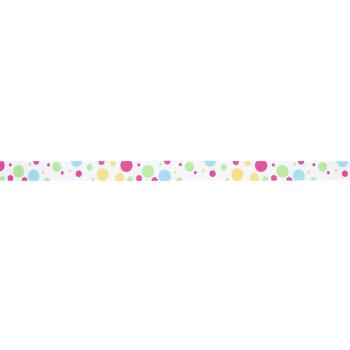 "Bright Polka Dot Grosgrain Ribbon - 5/8"""