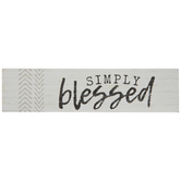 Simply Blessed Wood Magnet