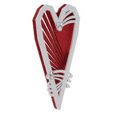 Red Glitter Flourish Heart Ornament