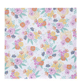 """Pink & Yellow Floral Scrapbook Paper - 12"""" x 12"""""""