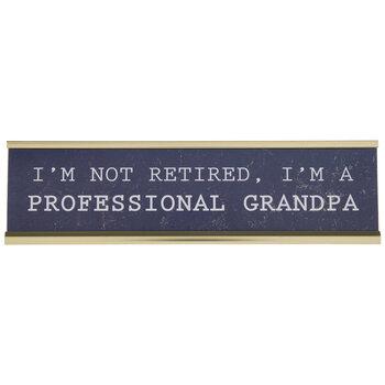 Professional Grandpa Name Plate