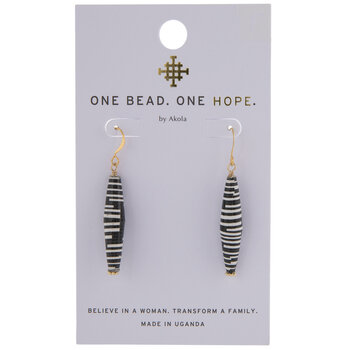 Black & White Karatasi Paper Drop Earrings