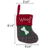Woof Plaid Mini Stocking