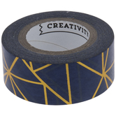 Blue & Gold Deco Art Project Washi Tape