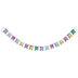 Watercolor Geometric Pennant Banner
