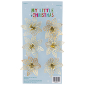 Metallic Gold Poinsettia Ornaments