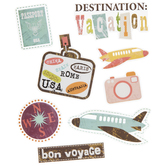 Airplane Travel Stickers