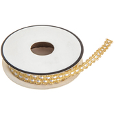 Gold & White Metallic Woven Trim - 5/16""