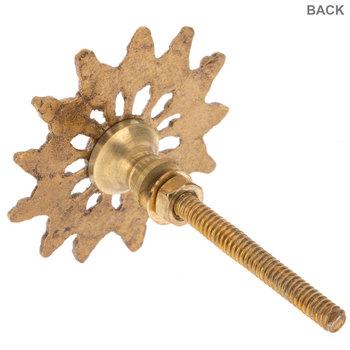 Glass Globe Knob with Gold Metal Base