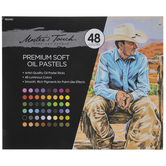 Master's Touch Premium Soft Oil Pastels - 48 Piece Set