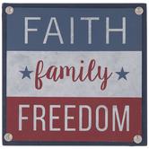 Faith, Family & Freedom Wood Decor
