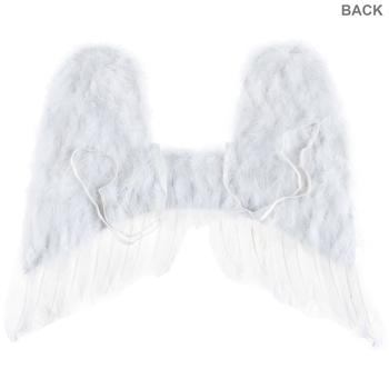 "16"" White Toddler Angel Wings"