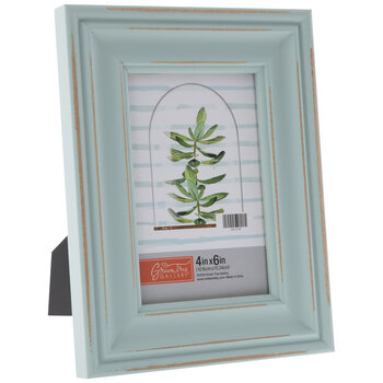 BlueDistressed Wood Frame