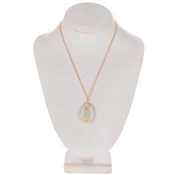 Light Blue Stone Chain Necklace