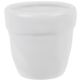 White Dimpled Pot