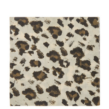 Brown & Black Leopard Print Napkins