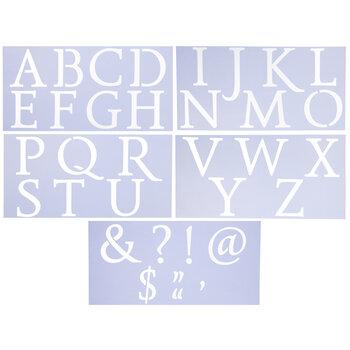 Roman Uppercase Alphabet Stencils