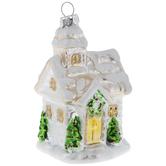 Snow Cabin Ornament