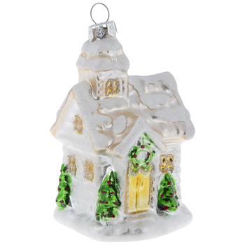 Snow Cabin Ornament