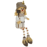 Scarecrow With Shovel Shelf Sitter