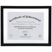 "Black Wood Float Document Frame - 11"" x 8 1/2"""