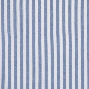 Blue & White Chambray Stripe Denim Fabric