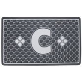 Gray Geometric Tiles Letter Doormat - C