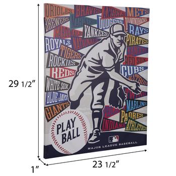 MLB Team Pennants Canvas Wall Decor