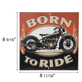 Motorcycle Born To Ride Metal Sign