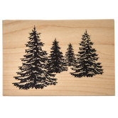 Pine Trees 3D Shading Rubber Stamp