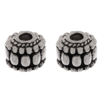 Dotted Spacer Beads - 7mm x 8mm
