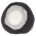Black & White Wool Roving Roll