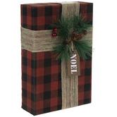 Red & Black Buffalo Check Wood Gift Box