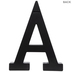 Black Letter Wood Wall Decor - A