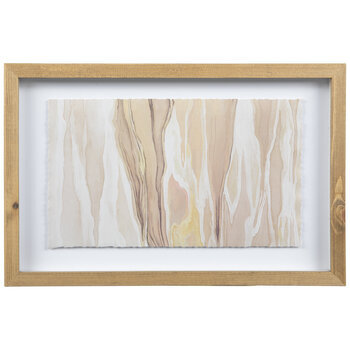 Pink & Brown Marbled Framed Wall Decor