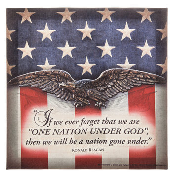 One Nation Under God Canvas Wall Decor