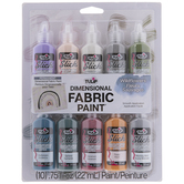 Wildflower Tulip Slick Dimensional Fabric Paints - 10 Piece Set