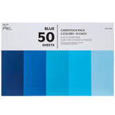 "Blue Cardstock Paper Pack - 8 1/2"" x 11"""