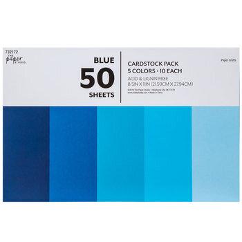 "Blue Cardstock Paper Pack - 8 1/2"" x 11"""