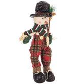Snowman With Broom Shelf Sitter