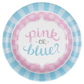 Pink Or Blue Reveal Paper Plates - Large