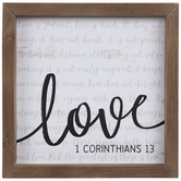 1 Corinthians 13 Wood Wall Decor