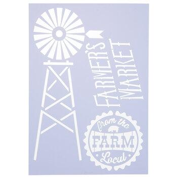 Farmer's Market Stencil