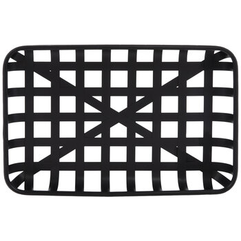 Black Rectangle Woven Metal Basket