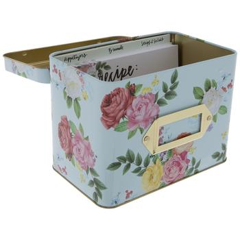 Roses Metal Recipe Box