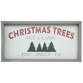 Christmas Trees Wood Wall Decor