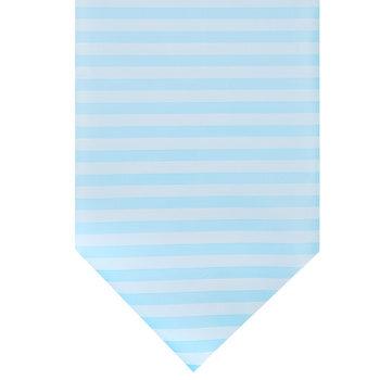 Soft Blue Striped Table Runner