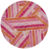 Pink & Orange Abstract Plate