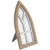 Cathedral Windowpane Arch Mirror